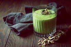 Batido verde saudável Foto de Stock
