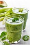 Batido verde saudável Fotos de Stock Royalty Free