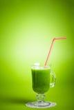 Batido verde saudável do suco Fotos de Stock