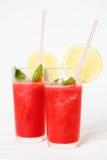 Batidos da melancia com limão e hortelã Imagem de Stock Royalty Free