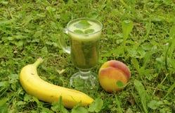 Batidos do fruto e dos verdes foto de stock royalty free