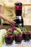 Batidos do legume fresco Fotografia de Stock