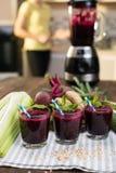 Batidos do legume fresco Fotos de Stock Royalty Free
