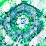 Batik - abstract green diamond pattern on silk Stock Photography