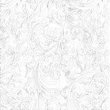 Batik Abstract Swirl on White Shape from Yogyakarta Royalty Free Stock Photos