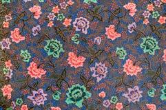 Batik azul Fotografía de archivo