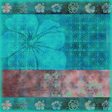 Batik Background Quickpage. A floral, batik style background, beachy and rich in texture for scrapbooking, etc Stock Photography