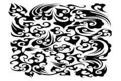 Beautiful Abstract Background Vector illustration. Batik Black Abstract Background Vector illustration stock illustration