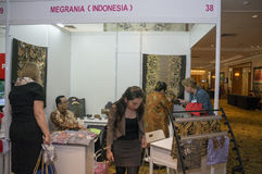 Batik booth Stock Image