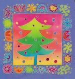 Batik christmas tcard Stock Photos