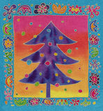 Batik christmas tree Stock Image