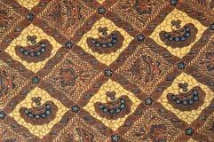 Batik cloth. Detailed pattern of batik cloth Royalty Free Stock Photo