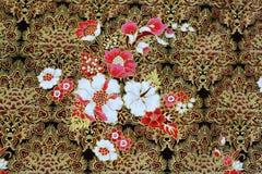 Batik cloth fabric background Stock Images
