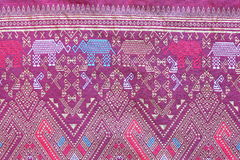 Batik cloth fabric texture background Royalty Free Stock Photography