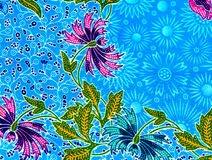 Batik cloth pattern Stock Photo