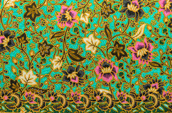 Batik cloth pattern Stock Image