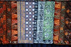 Batik cloths Stock Images