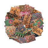 Batik Collage in round shape Stock Image