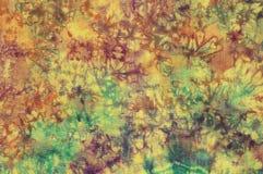 Batik colorido del algodón Fotografía de archivo libre de regalías