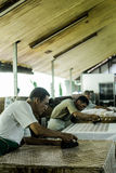 Batik craftsmen Royalty Free Stock Image