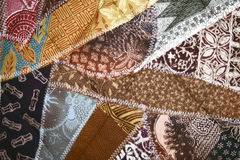 Batik Crazy Quilt Stock Photo