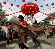 Batik Culture Parade in Lunar New Year stock images