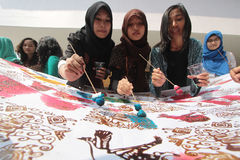 Batik day Stock Image