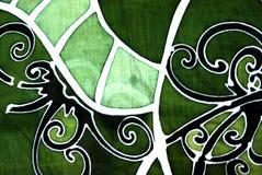 Batik de Sarawak com um projeto do motivo do ulu do orang Imagens de Stock Royalty Free