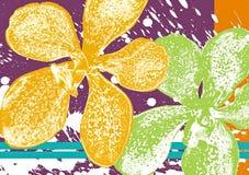 Batik dell'orchidea illustrazione vettoriale