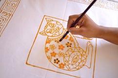 Batik della pittura fotografia stock