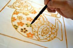 Batik della pittura immagini stock
