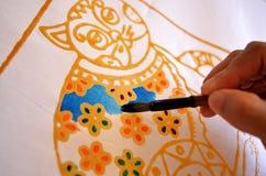 Batik della pittura fotografie stock libere da diritti