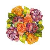 Batik delle rose del mazzo illustrazione per il disegno illustrazione vettoriale