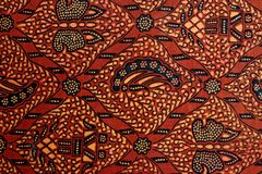 Batik Design. Detail of a batik design from Bintan, Indonesia Royalty Free Stock Photos