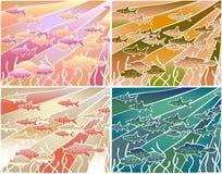 Batik dos peixes Fotografia de Stock Royalty Free