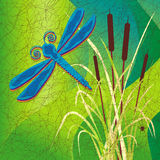 Batik Dragonfly Royalty Free Stock Photo