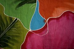 Batik fabric. Suitable for use as a background in design Royalty Free Stock Photography