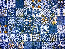 Batik fabric abstract pattern. As background stock photo