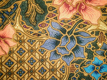 Batik fabric art. Indonesian batik cloth characteristic that have been entrenched Stock Image