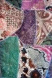 Batik fabric crazy quilt material Stock Image