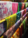 Batik fabric. Indonesian batik cloth characteristic that have been entrenched Stock Photos
