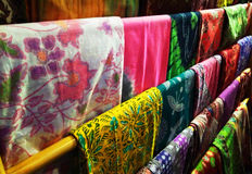 Batik fabric. Indonesian batik cloth characteristic that have been entrenched Royalty Free Stock Images
