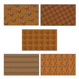 Batik. Five kinds of indonesian batik pattern Stock Image