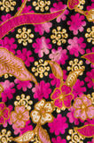 Batik with floral patterns Royalty Free Stock Images
