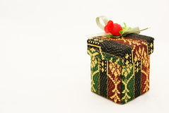 Batik Gift Box. View of still-life objects taken in a light box Royalty Free Stock Photos