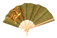 Batik hand-held fan Stock Photo