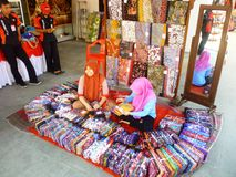 Batik hand stamp print in Lasem royalty free stock photo