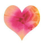 Batik heart Stock Photo