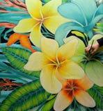 Batik het Schilderen Stock Foto's