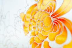 Batik het schilderen met borstel Stock Foto's